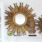 Add a touch of whimsicality to the interiors of your living room with the Creative Co-Op Chateau Round Sunburst Mirror. Fashioned with a traditional style. White Wall Mirrors, Rustic Wall Mirrors, Contemporary Wall Mirrors, Mirror Wall Art, Round Wall Mirror, Round Mirrors, Sun Mirror, Mirror Collage, Mirror Set