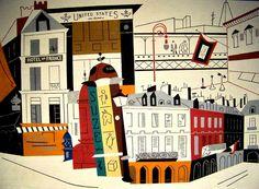 """New York - Paris No. 2  by Stuart Davis  1892-1964"""