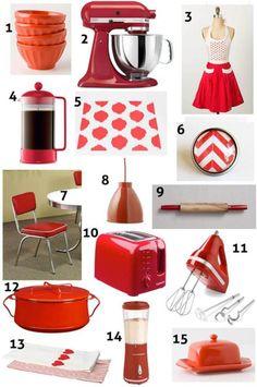 24 Perfect Modern Kitchen Accessories Red Decorvintage