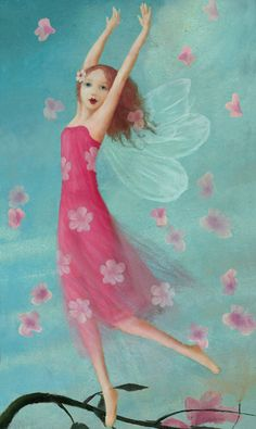 Card pink fairy dance by Stephen Mackey.