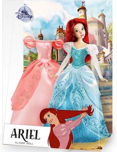 Disney Barbie Dolls, Ariel Doll, Disney Princess Dolls, Ariel Disney, Princess Tiana, 2nd Birthday Cake Boy, Birthday Gifts For Girls, Prince Eric And Ariel, Movie Crafts