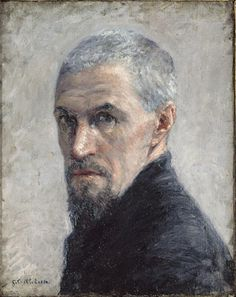 Gustave Caillebotte,  Portrait de l'artiste vers ca.1892, oil on canvas.