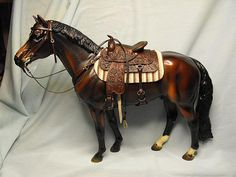 LSQ Working Western Set - model horse tack