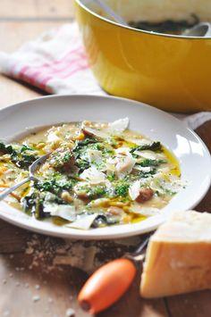 Potato, Turnip, White Bean and Kale soup