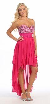 Fuchsia prom dress <3