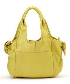 Yellow Carmine Leather Shoulder Bag