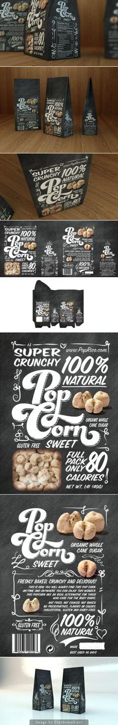 Sweet Popcorn #popcorn #packaging #typography #lettering