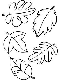 Fall Leaf Patterns for crafts, painting, embroidery