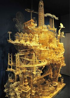6451a60bd Patience is a virtue. Or a form of OCD. Toothpick Sculpture