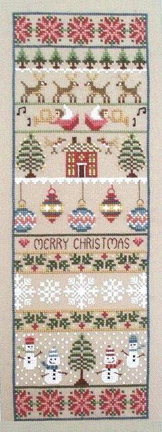 Merry Christmas Sampler Cross Stitch Kit | sewandso