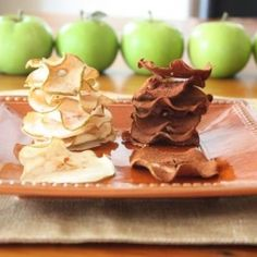 Baked Green Apple Chips. Back-to-school & fall are the perfect time to whip up a batch of baked apple chips. Tart perfection!