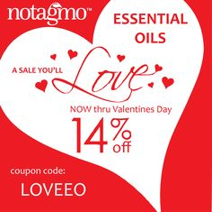 Valentine's Day is the perfect day for an essential oil gift set. Aromatherapy for your sweetie!  It will be love at first scent!  https://www.notagmostore.com   Coupon Code: LOVEEO