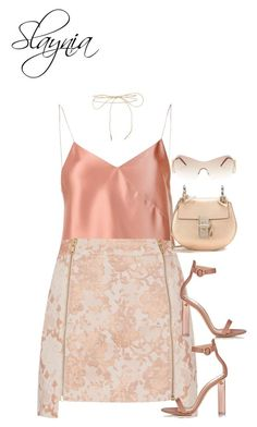 """""""Apricot"""" by slaynia ❤ liked on Polyvore featuring Topshop, Lilou, Gianvito Rossi, Chloé and Roberto Cavalli"""