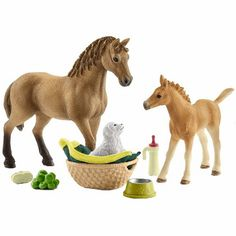 Aspiring Schleich Farm Life 42270 Horse Care Set Andalusians & Accessories Novel In Design;