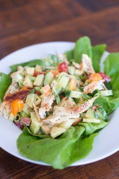 Frisse lunchsalade met kip en appel - OhMyFoodness