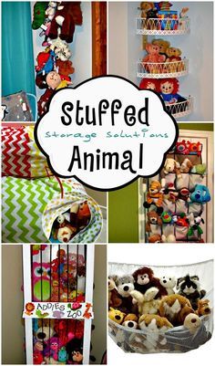 Stuffed Animal Storage Solutions... Love all these ideas to corral my daughter's collection of stuffed animals.