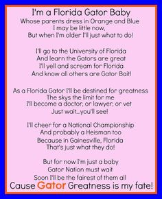 Florida Gator Baby Girl by jzoet on Etsy, $10.00