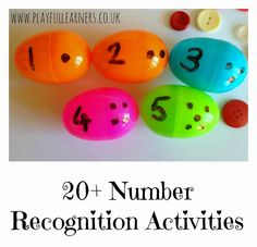 20+ Number Recognition Activities | Playful Learners