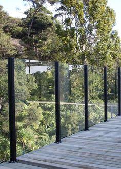 Pergola For Car Parking Glass Balcony Railing, Patio Railing, Patio Roof, Glass Fence, Glass Garden, Beach Gardens, Outdoor Gardens, Wind Break Garden, Modern Fence Design