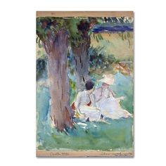 John Singer Sargent 'Under The Willows' Canvas Art