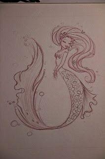 ♥ The Art of Liana Hee ♥: February 2012 Mermaid Sketch, Mermaid Drawings, Mermaid Pose, Mermaid Art, Cartoon Drawings, Art Drawings, Pencil Drawings, Wie Zeichnet Man Manga, Arte Sketchbook