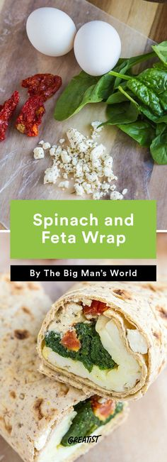 2. Spinach and Feta Wrap #greatist http://greatist.com/eat/copycat-starbucks-breakfast-recipes