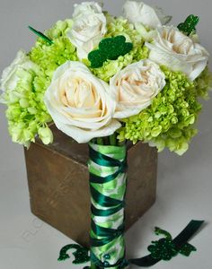 A little green fun for a St. Patrick's Day wedding