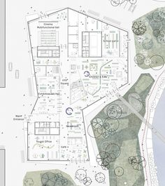 New Culture Centre and Library Winning Proposal / schmidt hammer lassen architects,ground floor plan Cultural Architecture, Library Architecture, Museum Architecture, Architecture Drawings, Architecture Plan, Landscape Architecture, Schmidt, Library Floor Plan, Museum Plan
