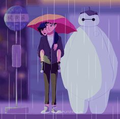 Big Hero 6 crossover. This is beautiful but makes me cry a lot too #Disney #feels