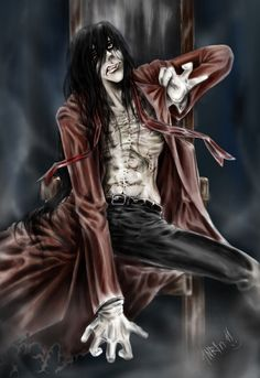 Adobe Photoshop Alucard©Kouta Hirano Welcome to Hell Anime Manga, Anime Guys, Hellsing Alucard, Joker Images, Anime Fight, Old Fan, 7 Deadly Sins, Dracula, Cool Pictures