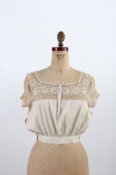 1900s Blouse / Edwardian Crotchet Lace Top by 86Vintage86 on Etsy, $148.00