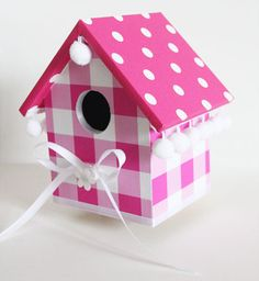 vogelhuisje kinderkamer Decorative Bird Houses, Bird Houses Painted, Homemade Bird Houses, Cute Birds, My Favorite Color, Wood Crafts, Mosaic, Projects To Try, Crafty