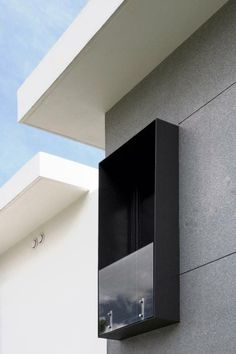 Shallow balcony Source by Facade Design, Exterior Design, House Design, Balcony Design, Window Design, 3d Home, Building Facade, Facade Architecture, Facade House