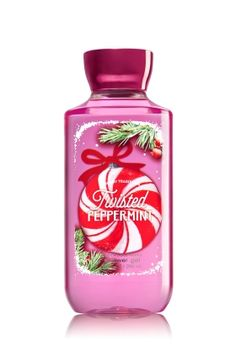 Twisted Peppermint - Shower Gel - Signature Collection - Bath & Body Works - Wash your way to softer, cleaner skin with a rich, bubbly lather bursting with fragrance. Moisturizing Aloe and Vitamin E combine with skin-loving Shea Butter in our most irresistible, beautifully fragranced formula!