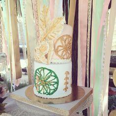 Gâteau Bohême plumes dreamcatcher