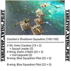 This is a revised Cracken + Squad Leader list. It worked well.