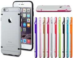For iPhone 6 & 6 Plus 9 Color Case Slim Transparent Crystal Clear Hard TPU Cover #generic