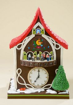 "Cuckoo clock cake by the ""Ace of Cakes"" team, headed by Duff Goldman at Charm City Cakes.  This one's impressive."