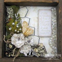 Faith Hope and Love ~this is the 2nd of four wall plaques created by Lynne Forsythe.  Come to the Petaloo Blog and see how to mix Authentique FAITH paper along with Petaloo flowers & berries to create wall art like this ...