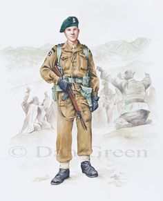 Captain, Royal Ulster Rifles, Korea 1952, brigaded with the Glosters and fought alongside them at the Imjin. By Dan Green