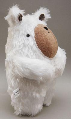 Handmade polar bear plush toy, $30
