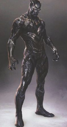 We've collected over 40 pieces of Black Panther concept art and here you'll find the first batch of that featuring futuristic, comic accurate, and cat-like takes on T'Challa's costume in the Marvel movie. Marvel Comics, Marvel Heroes, Marvel Characters, Marvel Avengers, Black Panther Storm, Black Panther Art, Black Panther Marvel, Marvel Concept Art, Arte Robot
