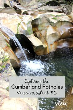 The Cumberland Potholes is a hidden gem on Vancouver Island one should not miss out on! Discover how to find them and what to expect while you are there. If you like unique topography this is the place to explore! Vancouver Island, Vancouver Travel, Oh The Places You'll Go, Places To Travel, Hostels, Canadian Travel, Island Life, Vacation Spots, Vacation Ideas