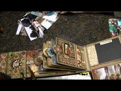 ▶ Adding Memories to my MIL's French Country Mini Album, and rambling with you all. - YouTube