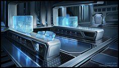 Laboratory by Sebastian Wagner on ArtStation. Spaceship Interior, Futuristic Interior, Futuristic City, Futuristic Technology, Futuristic Architecture, Episode Backgrounds, Sci Fi Environment, Anime Scenery Wallpaper, Science Fiction Art