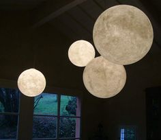 these light fixtures look like the moon