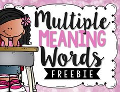 Multiple meaning words can be tricky for kids.  Check out this fun FREEBIE from The Primary Gal!