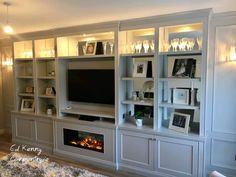 Stunning media unit with Intergrated electric fire Media Unit, Tv Unit, Carpentry Services, Electric Fires, Bespoke Furniture, Building, Cabinets, Design, Home Decor