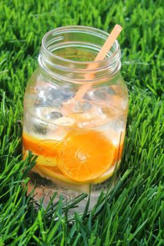Citrus Water - a healthy, refreshing alternative to sugary drinks and perfectly colorful for summer