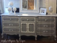simply vintageous...by Suzan: Before/After Dresser - Meet Brigitte!